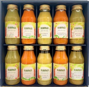 【果汁・野菜汁100%】健康ジュースギフト 瓶ジュース ストレート ギフト