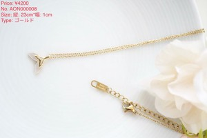 【necklace】dolphinモチーフゴールドネックレス