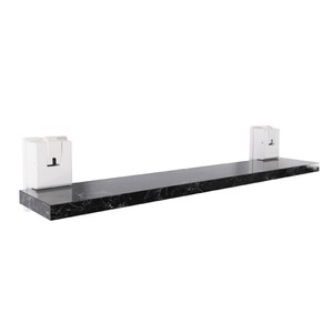 予約販売大理石調ラック棚 Mサイズ 60x10.4x12.1cm ブラック