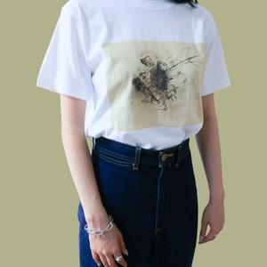 Y PAINTING PRINT WHITE  PREMIUM T-SHIRTS Yペインティングプリントプレミアム半袖Tシャツ ホワイト 白