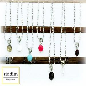 オーバルカット天然石ネックレス (riddim)