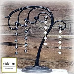 淡水パールロングイヤリング(左右セット) (riddim)