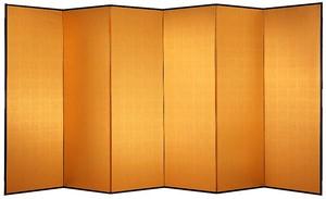 金屏風 SL601 新洋金絹目 6尺6曲