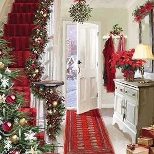 グリーティングカード クリスマス「クリスマスパーティへの招待」メッセージカード