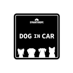 DOG IN CARステッカー 【黒】