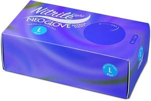 使い捨てニトリル手袋 ネオグローブニトリルライト Lサイズ ブルー 粉無