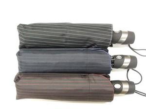 自動開閉 耐風晴雨兼用傘 グラス骨 UVカット率99% 耐風 折JP 兼用日傘 ピンストライプ柄