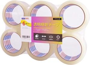 ADHES ガムテープ梱包テープ oppテープ 透明タイプ 48mm×50m