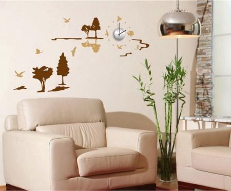 Sticker Clock/Watch Wall Deco Clock Natural Nature | Export Japanese ...