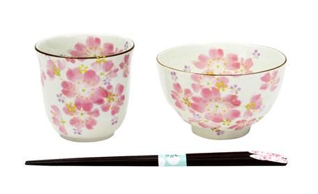 Image result for 食器 ギフト 美濃焼 和藍 華まつり 飯碗湯呑セット