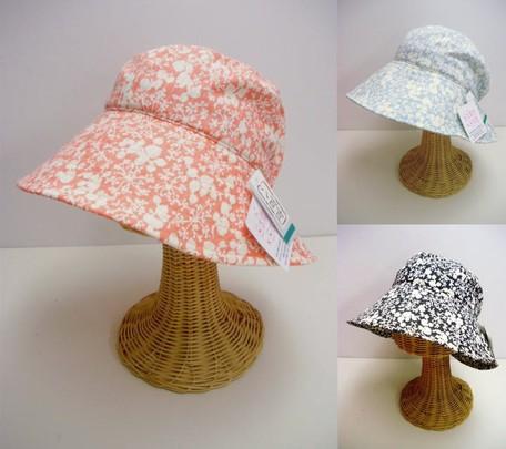 296f21ab05d Floret Pattern Print Broad-brimmed Hats   Cap Countermeasure Sunburn ...