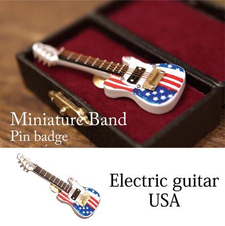 Miniature Band pin Badge Guitar Music Instrument American | Export