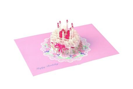 Birthday Laser Pop Card Cake