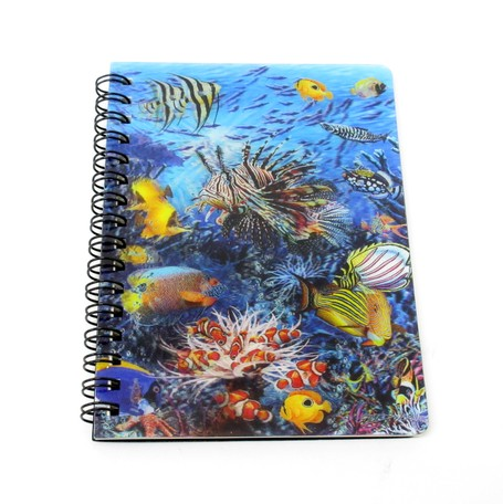 Stationery Ring Notebook Ocean Tropical Fish Clownfish