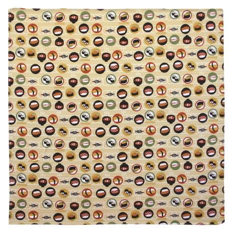 White Japanese Pattern Wrapping Cloth Conveyor Belt Sushi