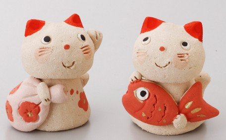 Friendly Cat Daikoku Ebisu Ornament | Export Japanese products to