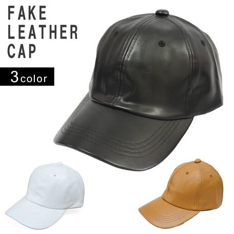 6ebc6d246c83a Hats & Cap Cap Men's Ladies Fake Leather Baseball Cap Plain ...