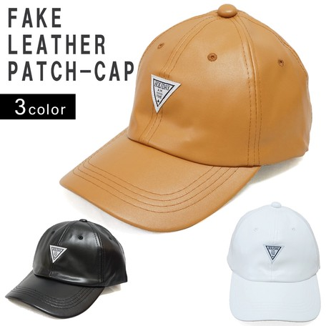 4454a4170a5 Hats   Cap Cap Men s Ladies Fake Leather Baseball Cap Synthetic ...