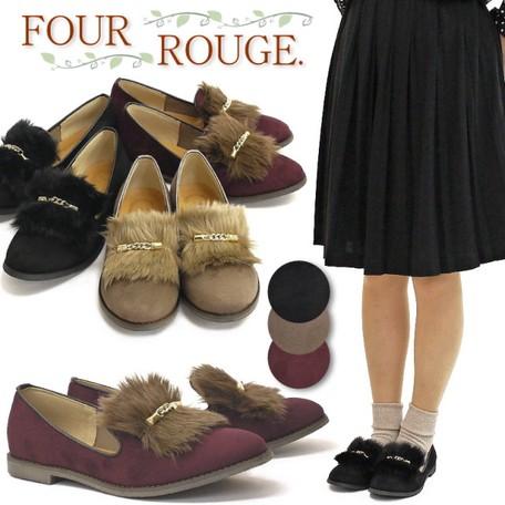 Opera Shoes Shoe Ladies Fake Fur Bijou Flat   Export ...