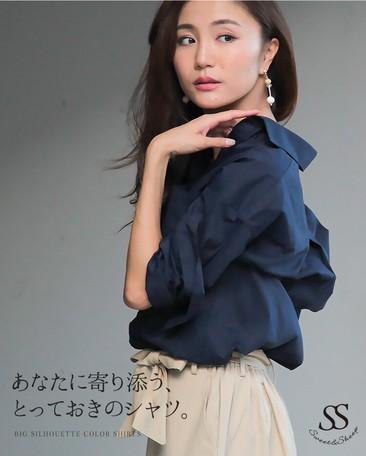 2018 A/W Shirt Plain Cotton Chambray Long Sleeve Casual Semi-formal