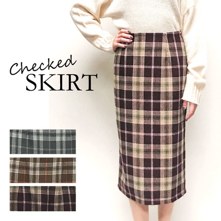 ffe1277986 Checkered Long Skirt   Export Japanese products to the world at ...