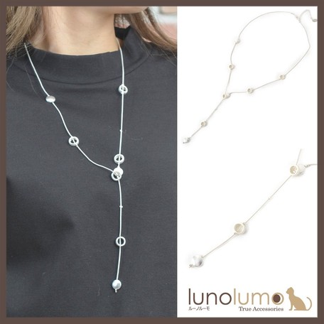 c275577f71cdd Necklace Metal Ladies Silver Casual White Metal | Export Japanese ...