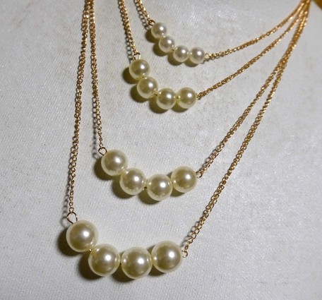 1222b723d4ae19 Pearl Design Necklace | Export Japanese products to the world at ...