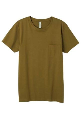 Men's Organic Cotton Jersey Stretch Pocket T-shirt | Export