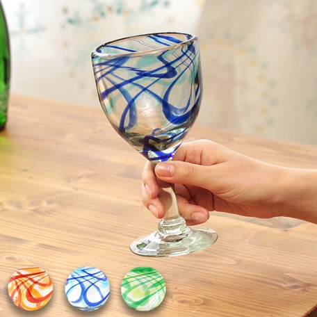Marble Attached Glass Wine Cocktail Colorful Mexico Ethnic Asia