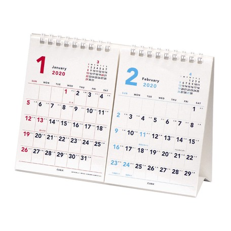 Calendar Basic Table-top White | Export Japanese products to