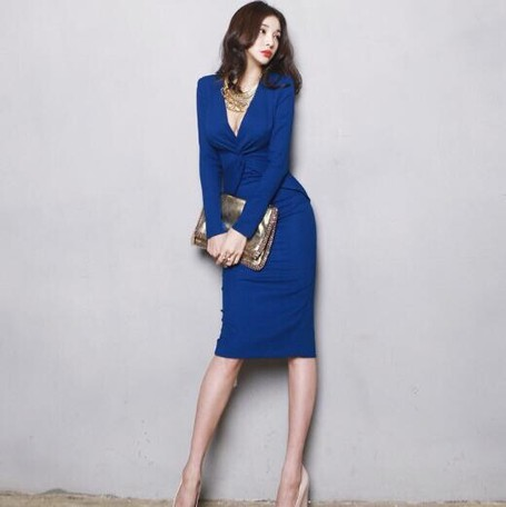 dd6decc424c21 Ladies One-piece Dress Dress Commuting Tunic Middle Sexy | Export ...