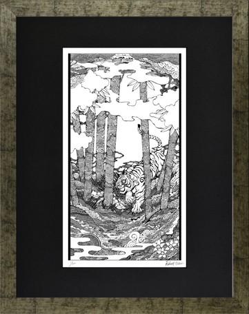 ロバートエドウィン「虎」ボールペン画 アート 大衣サイズの商品ページ ...